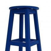 Döner Tabure 65cm Çelik Mavi İskelet Tabla Renk...