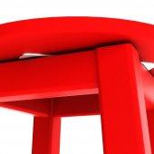 Döner Tabure 65cm Kırmızı İskelet Tabla Renk...