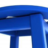 Döner Tabure 65cm Marin Mavi İskelet Tabla Renk...