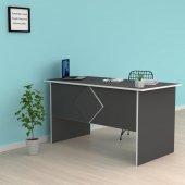 Kenzlife ofis masası masako 075*130*60 gri bilgisayar çalışma büro
