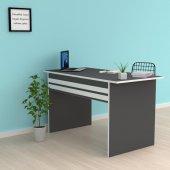 Kenzlife ofis masası kohana 075*070*60 gri bilgisayar çalışma büro