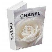 Dekoratif Kitap Kutusu (Beyaz Gül) 884015