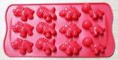 Dinazor Silikon Kalıp Dinozor Çikolata Muffin Sabun Kokulu Taş Mum Epoksi Kalıbı 12 Delikli