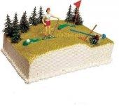 Golf Temalı Plastik Mini Pasta Teraryum Objesi