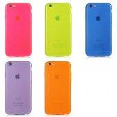 Apple İphone 6 Mun Renkli Tpu Silikon Kılıf...
