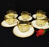 Paşabahçe Kahve Fincan Takımı Altın Amber - 6 Kişilik