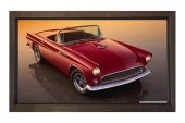 Kırmızı Klasik Araba Tablosu