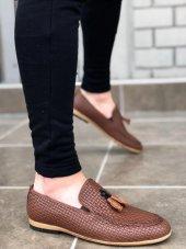 Ba0009 Püsküllü Corcik Taba Klasik Erkek Ayakkabısı