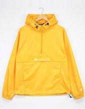 Champion Sarı Yarım Fermuar Kapüşonlu Yağmurluk