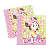 Minnie Mouse Baby İlk Yaşım Kağıt Peçete (33x33 cm) - 16 Adet