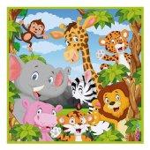 Safari Hayvanlar Temalı Peçete