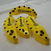 Kaliper Kapağı Brembo Kabartmalı 4'lü Set Sarı