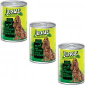 Jungle Kuzulu Av Hayvanı Konserve Köpek Maması 415 Gr X 3 Adet