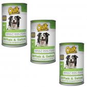 Quik Biftek Ve Sebzeli Konserve Köpek Maması 415 Gr X 3 Adet