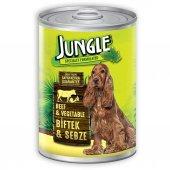 Jungle Biftekli Sebzeli Konserve Köpek Maması 415 Gr