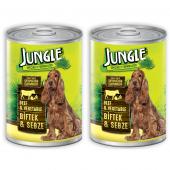 Jungle Biftekli Sebzeli Konserve Köpek Maması 415 Gr X 2 Adet