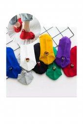 8'li Emoji Desenli Patik Çorap