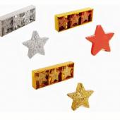 Simli Yıldız Mum - 3 Adet Sarı