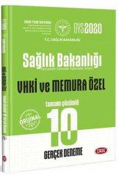 Data Yayınları 2020 GYS Sağlık Bakanlığı ve Bağlı Kuruluşları VHKİ ve Memura Özel Tamamı Çözümlü 10