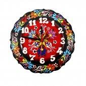Dekoratif Çini Saat  25 cm Kadife Kutusuz