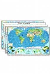 Ankara Yayıncılık Türkiye ve Dünya Haritaları Seti (Yazılabilir Silinebilir)