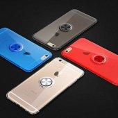 Apple İphone 8 Mill Yüzüklü Şeffaf Anti Shock...