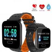 S78 Sport Smart Watch Dokunmatik Akıllı Saat Su Geçirmez (Turuncu)