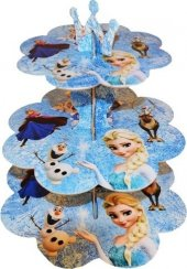 Frozen Kek Standı 3 Katlı Karton