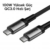 Samsung Galaxy Z Flip Görüntü Aktarma Kablosu Type C to Type C 10Gbps 4K Süper Hızlı Şarj Data PD 100W