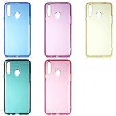 Samsung A20s Uyumlu Bistro Renkli Şeffaf Tpu...