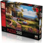 Ks Games Puzzle 500 Parça Fıve O Clock Tea...