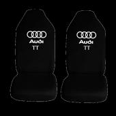 Audi TT Özel Araba Oto Koltuk Kılıfı Ön Koltuklar Siyah Penye Araca Özel Baskılı