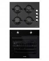 Luxell Siyah Sılver Ankastre Set (B66 S2 + Lx 40 Tah)