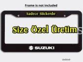 3 Adet Suzuki Oto Sticker Çıkartma Plaka Çerçevesi İçin - Beyaz