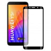 Bufalo Huawei Y5p Kavisli 5D Cam Ekran Koruyucu Siyah