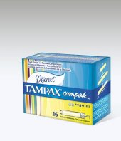 Tampax Compak Tampon Normal Regular 16 Adet