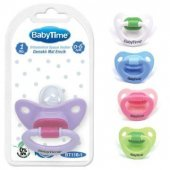 Babytime Silikon Mat Gövdeli Damaklı Emzik No:1 0-6 Ay BT116-1