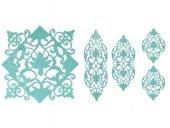 Zambak Kadife Salon Takımı 5 Parça Mint