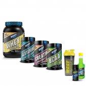 +6 HEDİYE West Whey Protein Tozu 504 gr + Bcaa 160 tablet + Glutamin 420 gr + Kreatin 20 servis Paketi
