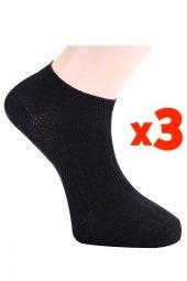 Tüter Siyah Bilek Boy Kadın Çorabı 3lü Set