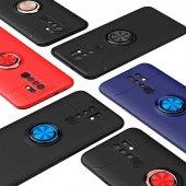 Xiaomi Redmi 9 Ravel Silikon Kılıf Yüzüklü...