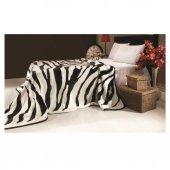 Mink Battaniye Tek Kişilik Solana 223 Zebra Siyah