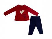 Rapapa Kız Bebe İkili Takım Kırmızı 1214