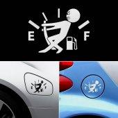 Benzin Kapağı Sticker - Fuel Sticker - İbreyi Tutan Adam Sticker