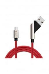 Soultech 2.4 A Type C ( Android ) Hızlı Data Şarj Kablosu Kırmızı DK028K