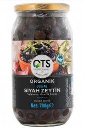 Ots Organik Gemlik Yağlı Salamura Siyah Zeytin 700 Gr.