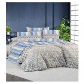 Kristal Nevresim Takımı Çift Kişilik Cotton Sonya Mavi