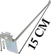 5 Adet Metal Kanca 15 Cm Raf Askı Kancası 15 Cm + Vidaları