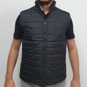 çizgili Şişme Yelek Kolsuz Ceket Mikro Kumaş Elyaflı İçi Polar Outdoor Renk Seçenekli