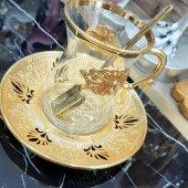 Space Lüx Çay Kaşığı , 6lı Çay Kaşık ,gold Ve...